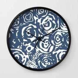 Navy Flower Bundle Wall Clock