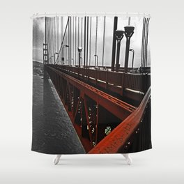Crossing the Golden Gate Shower Curtain