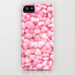 Pink Candy Hearts iPhone Case