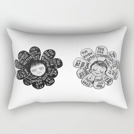 Negative Bloomer/Positive Bloomer Rectangular Pillow