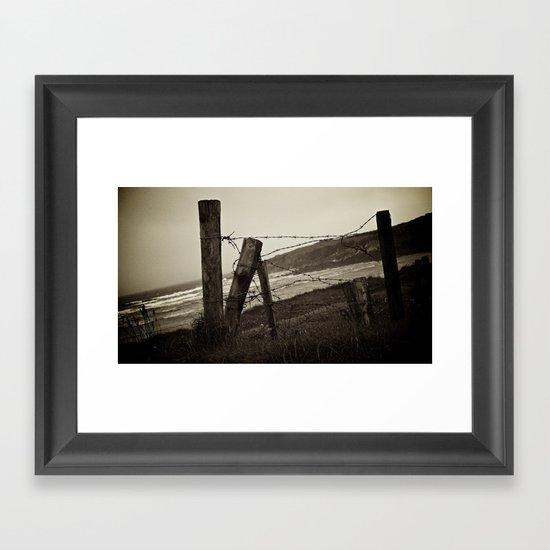 Fences and Defences. Framed Art Print