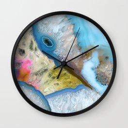 Crystals blue Wall Clock