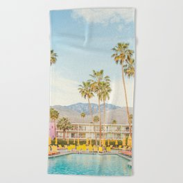 Poolside in Palm Springs - Travel Photography Beach Towel