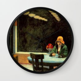 AUTOMAT - EDWARD HOPPER Wall Clock