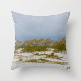 Sea Oats On Anna Maria Island (1) Throw Pillow