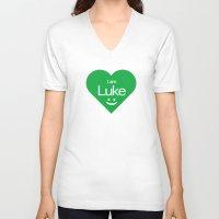 luke hemmings V-neck T-shirts featuring Luke by ♥ Charlie