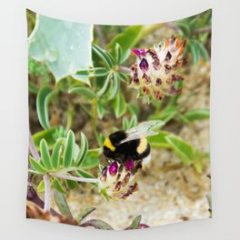 bumble bee on the dunes I Wall Tapestry