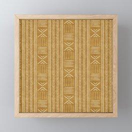 mustard mud cloth - arrow cross Framed Mini Art Print