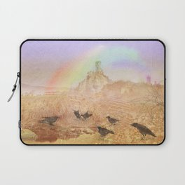 Rawens and ancient castle Laptop Sleeve