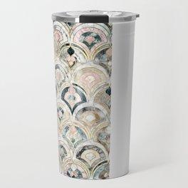 Art Deco Marble Tiles in Soft Pastels Travel Mug