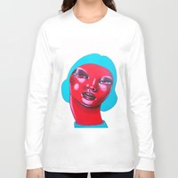 bubble Long Sleeve T-shirts featuring BUBBLE by Zelda Bomba