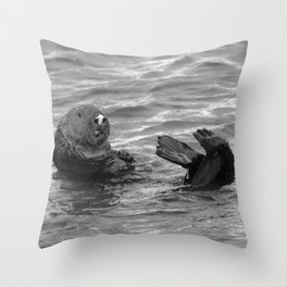 otter feet Throw Pillow