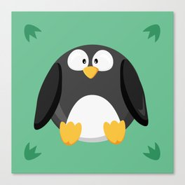 Penguin from the circle series Canvas Print
