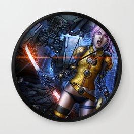 Fighter Girl Wall Clock