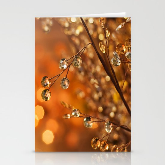 Sparkles in Gold Stationery Cards