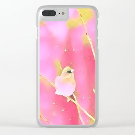 Junco Pink Yellow by CheyAnne Sexton Clear iPhone Case