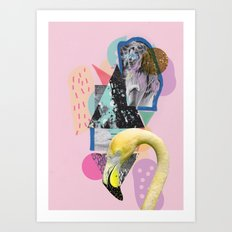 FLAMINGOLAND Art Print