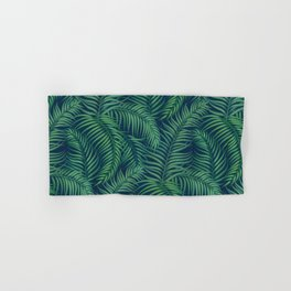 Night tropical palm leaves Hand & Bath Towel