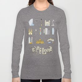 Barcelona with significant buildings Long Sleeve T-shirt