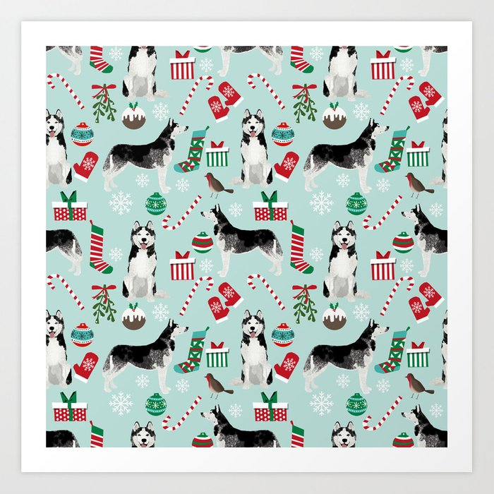 Siberian Husky christmas festive holiday gifts for husky owners by ...
