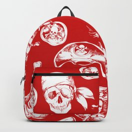 Red Pirate Pattern Backpack
