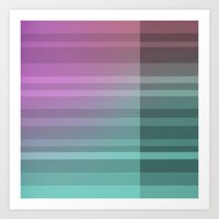 Coloured Intersection Art Print