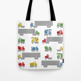 Trucks Childrens Room Decor Tote Bag