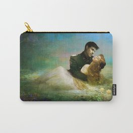 Love me tender - Sad couple in loving embrase in the lake Carry-All Pouch