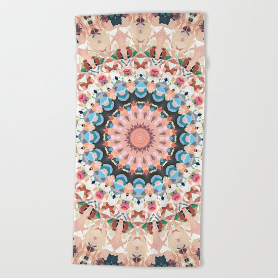 Textural Circles of Color Beach Towel