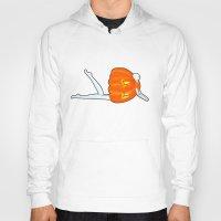 pumpkin Hoodies featuring Pumpkin by Nadina Embrey - Artist / Illustrator