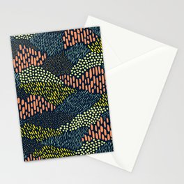 Dashes and dots // abstract pattern Stationery Cards