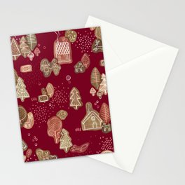 Hansel and Gretel Fairy Tale Gingerbread Pattern Stationery Cards