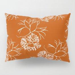 Orange Seaweed Pattern Pillow Sham