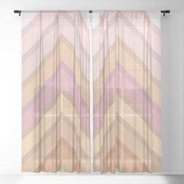 Pastel Peaks Sheer Curtain