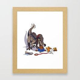 Dinosaurs to eat Framed Art Print