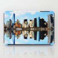 new york iPad Cases featuring New York New York by haroulita