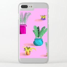 Crazy Plant Lady Clear iPhone Case