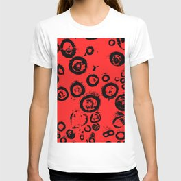 """""""Patterns of Nature"""" Logs in Red at Veroce, Hungary T-shirt"""