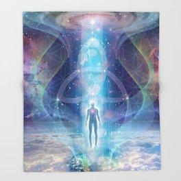 """A Spark of the Creator!"" - Trinity Throw Blanket"