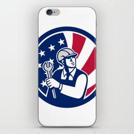 American Engineer USA Flag Icon iPhone Skin