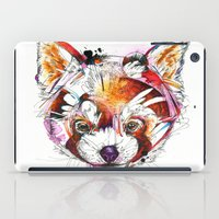 red panda iPad Cases featuring Red Panda  by Abby Diamond