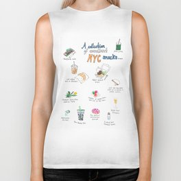 A Collection of Excellent NYC Snacks Biker Tank