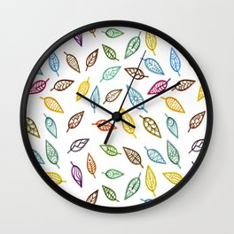 Tribal Leafs  - Unique Decorative Leaves Background Wall Clock