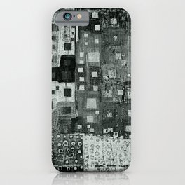 City Grid Pattern in Grays iPhone Case
