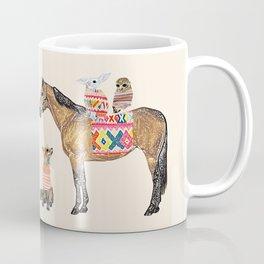 Family with horse, fox, rabbit, owl Coffee Mug