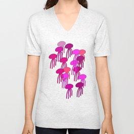 Jellyfish Pink Unisex V-Neck
