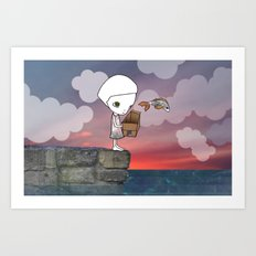 Gone Fishing (2) Art Print