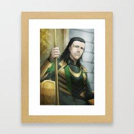 Thor 2 - Loki Print Framed Art Print