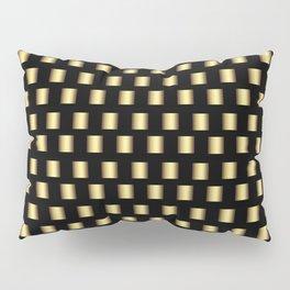Gold Metallic Squares Pillow Sham