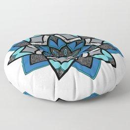 Finale Mandala - Hand Drawn Mandala Design Floor Pillow